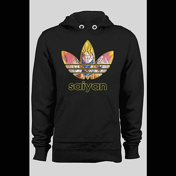 DRAGON BALL Z SUPER SAIYAN CARTOON ART ATHLETIC PARODY HOODIE