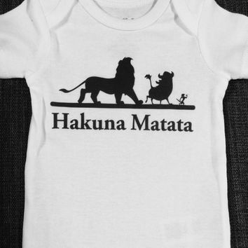 Hakuna Matata Lion KIng Inspired Baby Onesuit or Toddler Tee