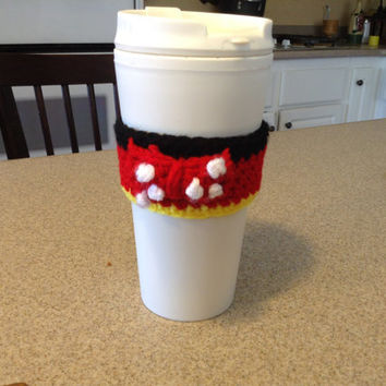 Crochet Minnie Mouse #2 Coffee Cup Cozy