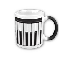 Musical Piano Keys Mug from Zazzle.com