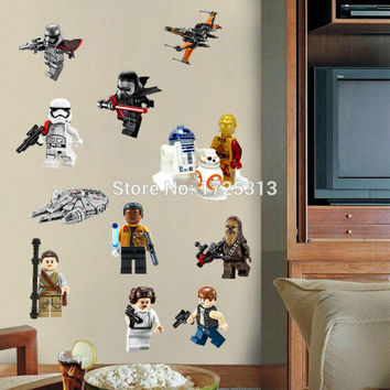 Star Wars Poster Lego Movie Wall Stickers Art for Baby Nursery Kid Room Home Decoration WallPaper Kids Wall Decals Paper