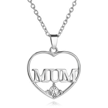 Best Gift for Mom Mothers Day Present Crystal Necklace Jewelry for Love Ones(Gift box) [9571279373]