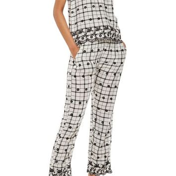 Topshop Embroidered Pajama Pants   Nordstrom