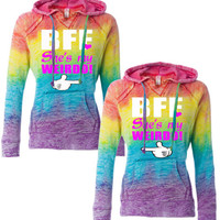 bff she's my weirdo hoodies rainbow hoodies best friends forever hoodies sweats