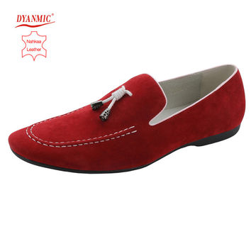 DYANMIC Men's Italian Fashion Genuine Leather Shoes Mens Casual Flats Shoes Man Loafers Male Moccasins Free Shipping Size 40-45