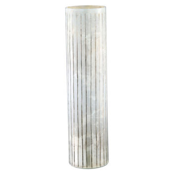 Milk Glass Tall Ribbed Cylinder, Jars, Canisters, Tins & Bottles