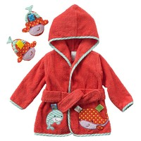 Taggies Whale Hooded Robe & Booties Set - Baby (Pink)