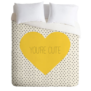 Allyson Johnson You Are Cute Duvet Cover