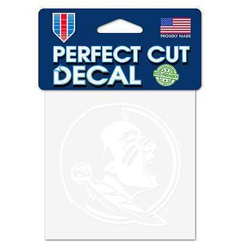 """Licensed Florida State Seminoles Official NCAA 4"""" x Automotive Car Decal 4x4 by Wincraft KO_19_1"""