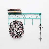 Scroll Shelf in Teal - Urban Outfitters