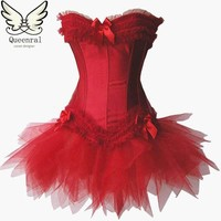 Corset  gothic clothing steampunk corset waist trainer corsets red black corsets and bustiers steampunk clothing sexy lingerie