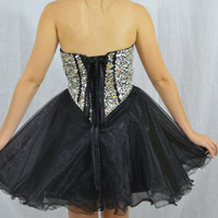short prom baby doll dress