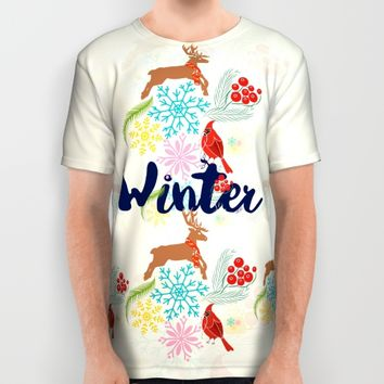 Winter All Over Print Shirt by Famenxt | Society6