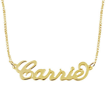Name Necklace 18K Gold Plated Personalized Name Chain -Choose any name to personalize