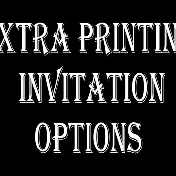 Extra Printing Options For Invitations