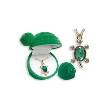 Turtle Animal Necklace in Turtle Box