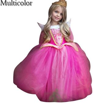 So Beautiful High Quality Sophia Princess Anna&Elsa Elza Princess Dress For Girls Kids Baby Kids Christmas Party Weeding Clothes