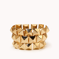 FOREVER 21 Pyramid Cuff Gold One