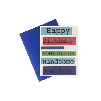 Card- Happy Bday handsome fellow