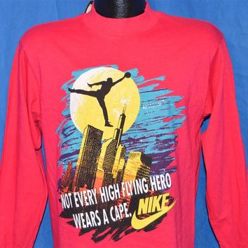 90s Nike Air Jordan Batman Superhero Chicago Bulls Long Sleeve Deadstock t-shirt Youth