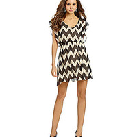 Gianni Bini Adele Chevron Dress - Blissful Beige