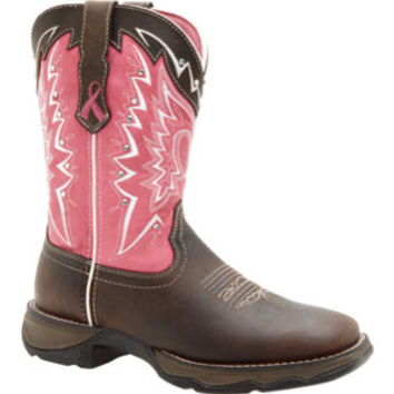 Durango Women's Lady Rebel 10 in. Pull-On Pink Ribbon Boot - For Life Out Here