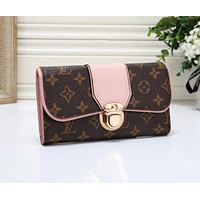 Louis Vuitton LV Hot Sale Women Fashion Leather Wallet Purse Pink