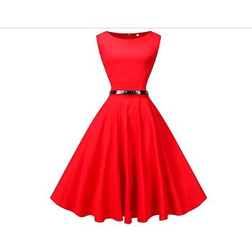 Tea Length Cocktail Dress, Red, US Sizes 4 - 26