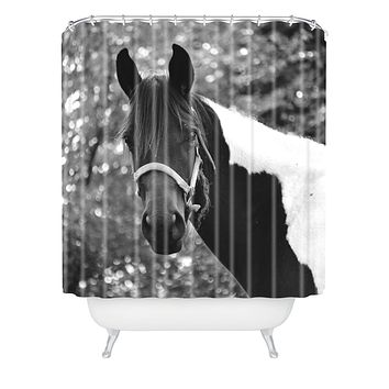 Allyson Johnson Horse Portrait Shower Curtain