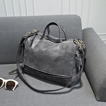 Distressed Leather Weekender Bag
