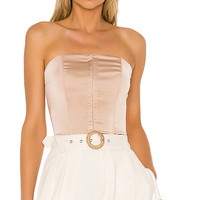 superdown Cailyn Corset Top in Champagne | REVOLVE