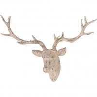 NEW! Antiqued Stag Head