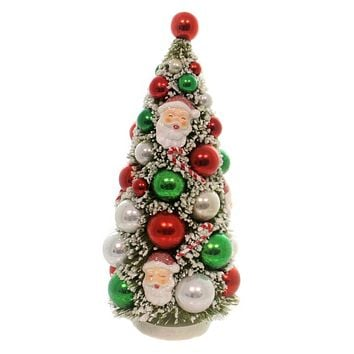 Christmas RETRO KITCHMAS TREE Plastic Vintage Santa Sn5872