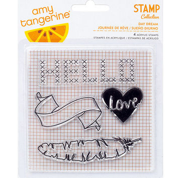 Stamps - Amy Tangerine, Stitched, Acrylic - Day Dream