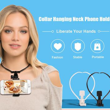 Stream & Record Outdoor Activities, Cooking, Night Life, & More! Universal Neck Hanging Phone Holder