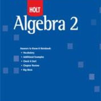 Holt McDougal Algebra 2 Know-It Notebook Teacher's Guide (No Transparencies)