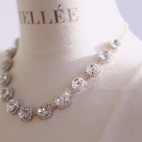 Princess Rhinestone Statement Necklace - LilyFair Jewelry