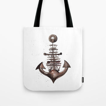 Ship's Anchor Tote Bag by MIKART