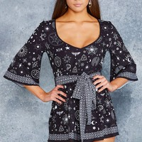 PUT A SPELL ON YOU KIMONO PLAYSUIT - LIMITED