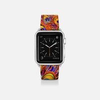 Peacock Feathers Rainbow Colors Apple Watch Band (38mm) by BluedarkArt | Casetify