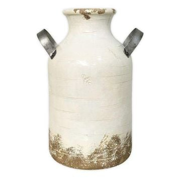"ONETOW SONOMA Goods for Lifeâ""?Farmhouse Milk Can Ceramic Vase"