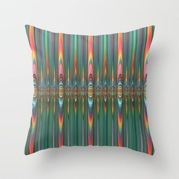 Mirrored Flames Throw Pillow by Lyle Hatch