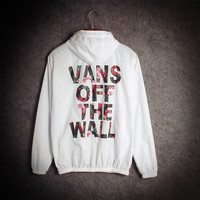"""Vans of the wall"" Windbreaker Summer Couple Alphabet Rashguard [9109762439]"