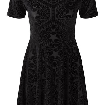Stargazer Velvet Skater Dress [B]