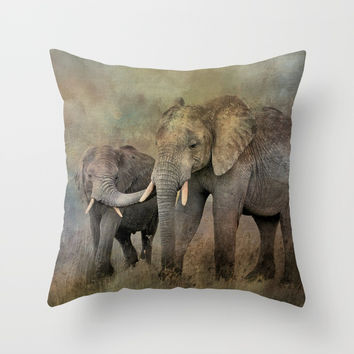 Mother And Child Throw Pillow by Theresa Campbell D'August Art
