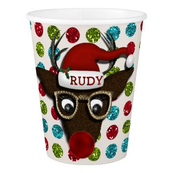 Rudolph Christmas PARTY PAPER CUPS