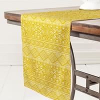 Heather Dutton Grand Bazaar Goldenrod Table Runner