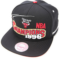 Mitchell & Ness The Chicago Bulls BRED XI Special Edition 1996 Finals Champions Snapback Cap in Black Red : Karmaloop.com - Global Concrete Culture