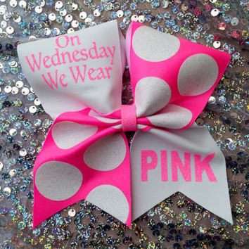 Cheer bow.  On Wednesday...pink