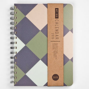 2015 Year Weekly Planners Calendars Diary Day Spiral Minimal Geometric A5 Gift Men Kalender Calendario Calendrier - JUNE 2 JUNE available!